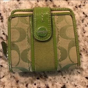 Apple green coach wallet!